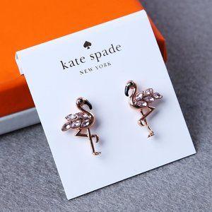 Kate Spade Rose Gold Flamingo Earrings